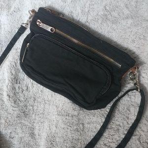 Victoria's secret PINK black cloth cross body bag